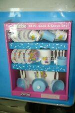 VINTAGE 1989 Barbie Cook and Serve 34 Piece Set, Chilton Toys NEW SEALED