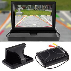 "Folding 5"" TFT LCD Monitor Car Reverse Rear View Monitor 800x480 for Camera DVD"