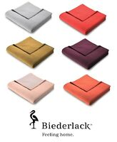 Biederlack Sevilla Large Throw Blanket 150 x 200cm Warm Fleece Various Colours