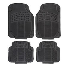 Heavy Duty All Weather Rubber Black Mat 4 Pc Pads Car Floor Mats Front & Rear