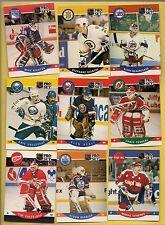 (9) 1990-91 PROSET NHL ROOKIE CARD
