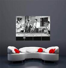 Rat Pack Playing Snooker Amazing Poster  Las Vegas Casino Black White Picture