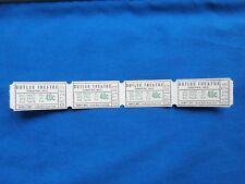 Vintage 40 Cent Butler Theatre Tickets (Strip of 4) Drive in Movie/Cinema - NV