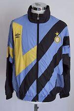 UMBRO FC INTER REPLI KIT L giacca zip jacket track top gabber felpa tuta E4224