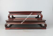 display stand shelf red hard wood rosewood china 1 set 2PC BIG wooden base