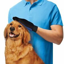 Massage Glove TrueTouch Pet Grooming Dogs Cats Bath Deshedding Gentle Efficient