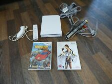 Official Nintendo Wii CONSOLE WHITE 2 GAME BUNDLE CONTROLLER NUNCHUCK  WORKING