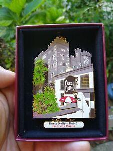 DURTY NELLY'S Pub & Castle IRELAND Vintage 3D Christmas Ornament / Irish Pub