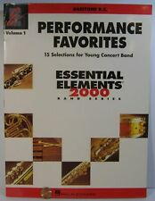 Hal Leonard Perf Favorites Essential Elements 2000 Series Baritone B.C.