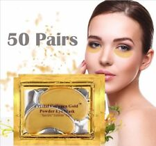 50 pairs Crystal Gold Collagen Under Eye Patches Mask DARK CIRCLES BAGS WRINKLES
