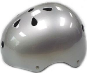 SILVER Kids Bicycle Helmet S/M/L Cycling Skateboard Scooter Protective Gear NEW