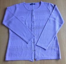 Ladies Bon Marche Lilac Medium Weight Cardigan Size S Excellent Condition