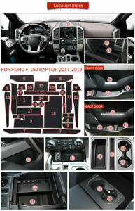 For Ford F-150 Accessories 2017-2020 Cup Holder Inserts Center Console Liner Mat