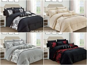 New NAVENA 7 PCS Comforter Set Pillow Cases,Valance Sheet,Cushion and Neck Roll