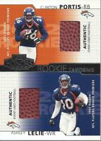 2002 Playoff Honors Rookie Tandems/Quads #RT5 Clinton Portis Ashley Lelie Ball