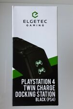 Elgetec PS4 Twin Fast Charger Charging Dock Station Dualshock Controller