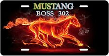 FORD MUSTANG BOSS 302 FLAMING PONY Novelty Vanity High Grade License Plate