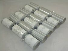 10 Silver and White Christmas Crackers (MI11)