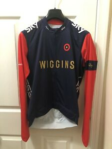 Rapha Cycling Team Sky Wiggins Core Jersey Long Sleeve Size Medium