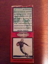 PITTSBURGH  PIRATES 1934 DIAMOND BACK FOOTBALL MATCHBOOK  WARREN HELLER (RED)