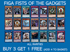 YuGiOh Fists of the Gadgets FIGA - All Rarities - Buy 3 Get 1 Free