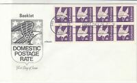 united states 1981 booklet pane stamps cover ref 20030