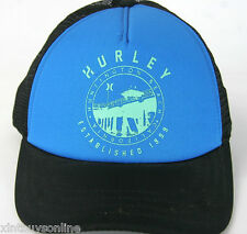 Hurley Half Mesh Destination Trucker Hat Cap Huntington Beach Hurley Surf