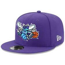 Charlotte Hornets New Era NBA Hardwood Classics Nights 9FIFTY Snapback Hat - Pur