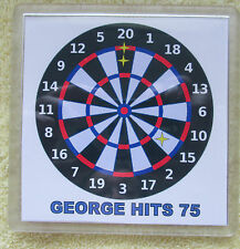 UNIQUE PERSONALISED DARTBOARD  BIRTHDAY COASTER- 18th 21st 25th 30th DAD, SON