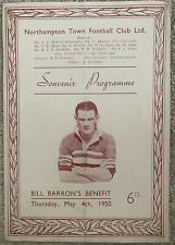 More details for northampton town bill barron's benefit match 1950
