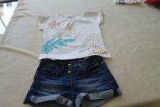 MARESE T-shirt taille  8 ans accompagné d'un short assorti en jean (Miss sixty)