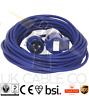 5M BLUE CARAVAN HOOK UP LEAD 16A SITE MOTORHOME OR CAMPING ELECTRIC CABLE 240V