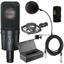 Audio Technica*AT4040 Bundle*AT-4040 Cardioid Condenser Mic+Pop Filter+Cable NEW