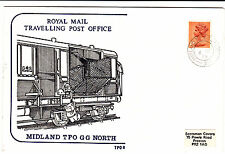QEll STAMP CANCELLED BY A MIDLAND TPO GG NORTH POSTMARK