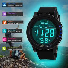 Men LCD Digital Army Watch Date Rubber Sport Wrist Watches Waterproof Stopwatch
