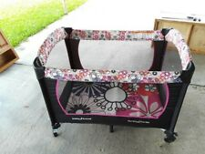 Baby Trend Pack and Play Playpen Pink Floral Pattern Infant Toddler