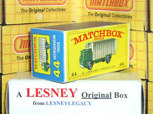 Matchbox Lesney 44c GMC Refrigerator Truck new model Type E4 EMPTY ORIGINAL BOX