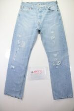 Levi's 501 Destroyed Cod.H1933Tg48 W34 L34 jeans d'occassion Taille Haute