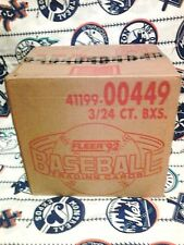 1992 Fleer Baseball Unopened Factory Sealed Original Stock 3 Box Rack Case
