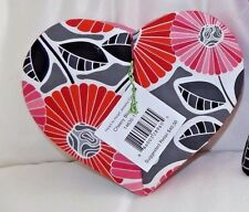 VERA BRADLEY JEWELRY HEART BOX  CHEERY BLOSSOMS - BRAND NEW WITH TAG