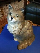 "Beswick L gris et blanc Persian Cat #1867 8.5"" Tall libre p&p & &"
