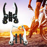 MTB Road Bycicle Bike Aluminum Front&Rear V Brake Levers Set Tail Bicycle Brakes