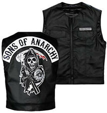 Sons Of Anarchy Officially Licensed Black Biker Vest with Reaper Patch - Ladies