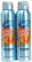 2 Secret Pasion de Tango Re Fresh Body Spray 3.75 oz