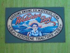 Waterloo Boy TRACTOR PORCELAIN SIGN John Deere Kerosene Gas Engine Advertising