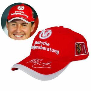 Red F1 MICHAEL SCHUMACHER AUTOGRAPH CAP FORMULA ONE 1 SIGNED BASEBALL RACING HAT