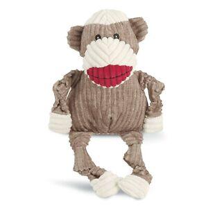 HuggleHounds Knotties plush Squeaker Sock Monkey TUFFUT  toy NEW - Large