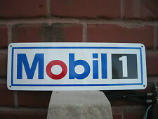 Mobil 1 Motor Oil Gas Station sign Service Gasoline