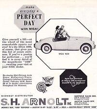 1961 MGA 1600 - S.H. ARNOLT  ~  VINTAGE ORIGINAL SMALLER PRINT AD