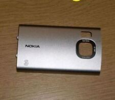 Genuina Original Nokia 6700 Slide 6700s cubierta de batería Plata Cubierta Trasera Fascia